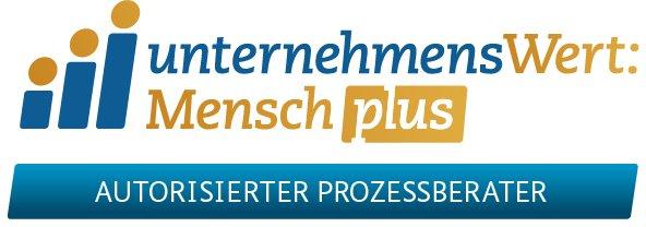 unternehmensWert:Mensch plus Logo