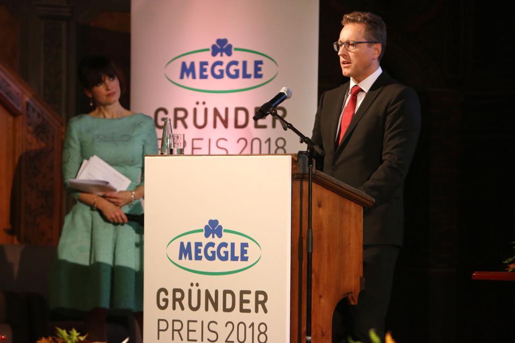 Reinhold Wanner beim Meggle Preis 2018